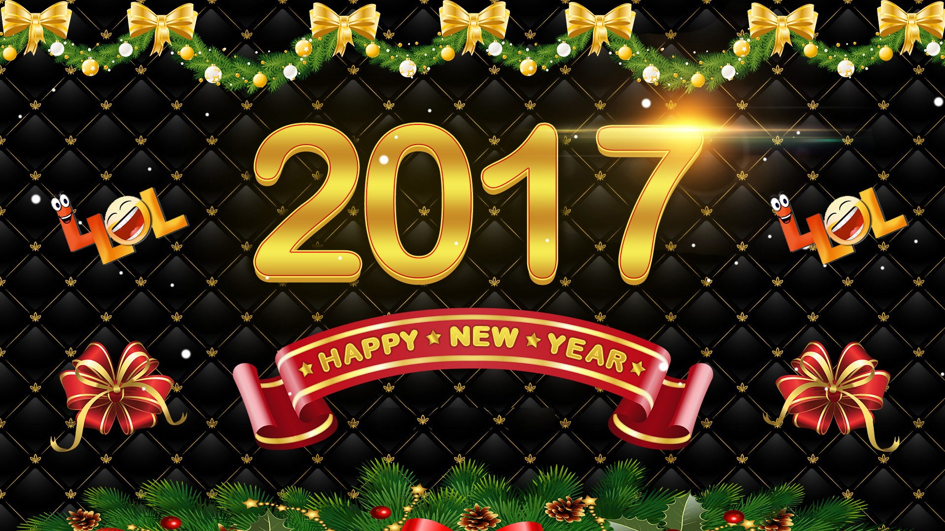 2017 New Year Wishes Wallpapers image
