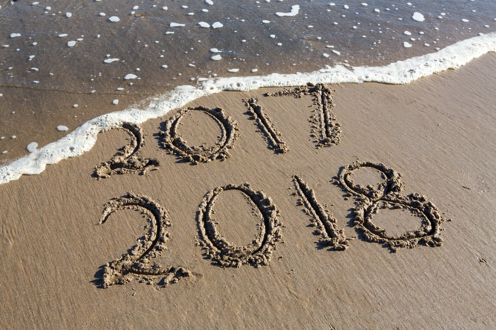 2018 Happy New Year Wallpaper HD Waves