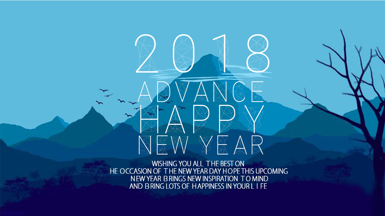 2018 New Year Advance Messages Wallpaper