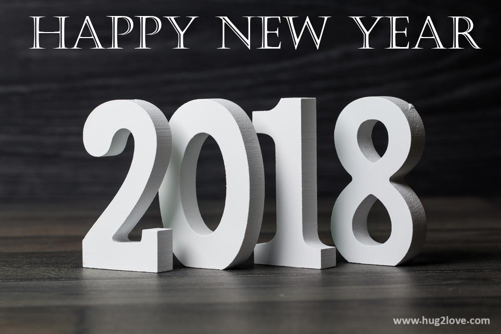 2018 White New Year Eve Wallpaper