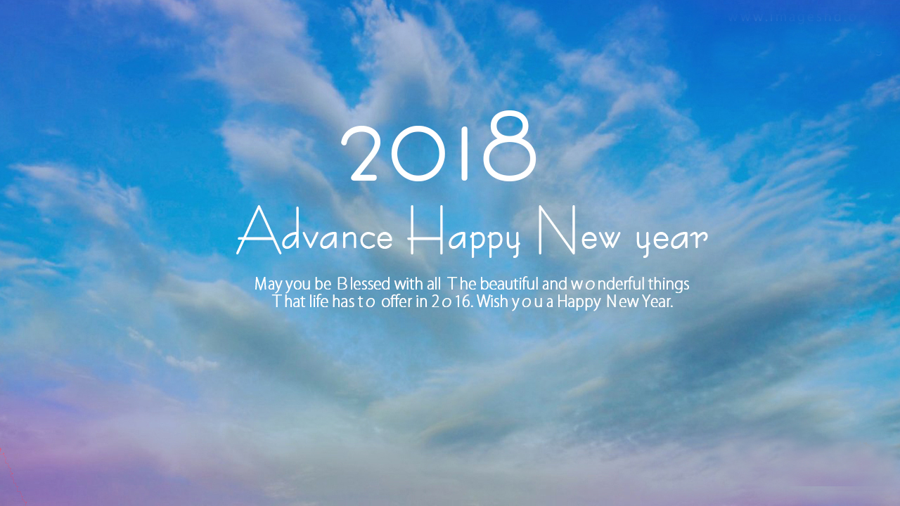 Best 2018 Advance New Year Quote Image