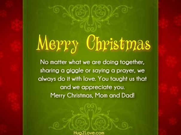 christmas quotes for mom and dad