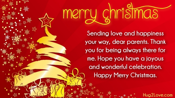 Best christmas wishes messages for parents