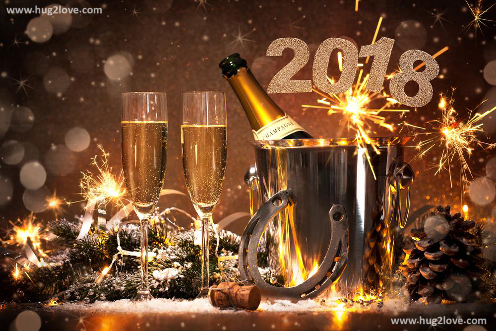 Cheers Happy New Year 2018 Wallpaper Desktop