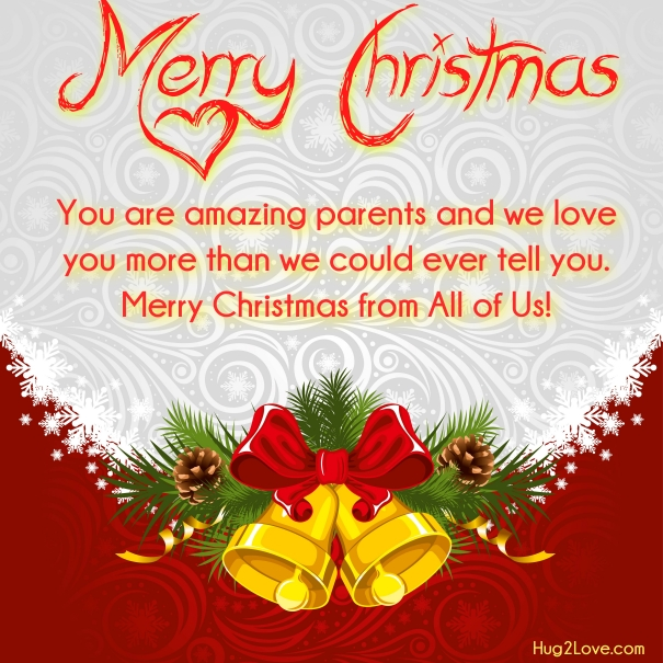 Awesome Christmas Greeting Card For Parents