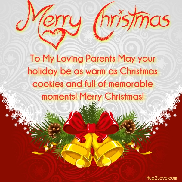 Christmas Greeting card for mom dad