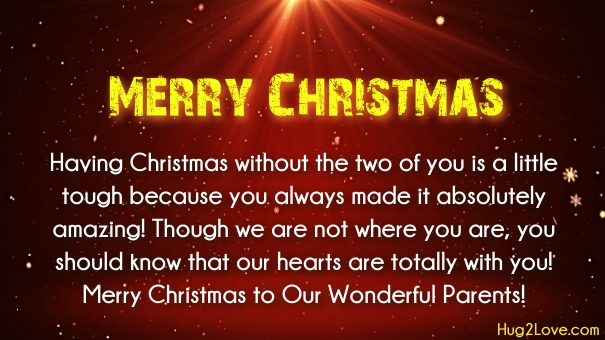 Christmas wishes to parents