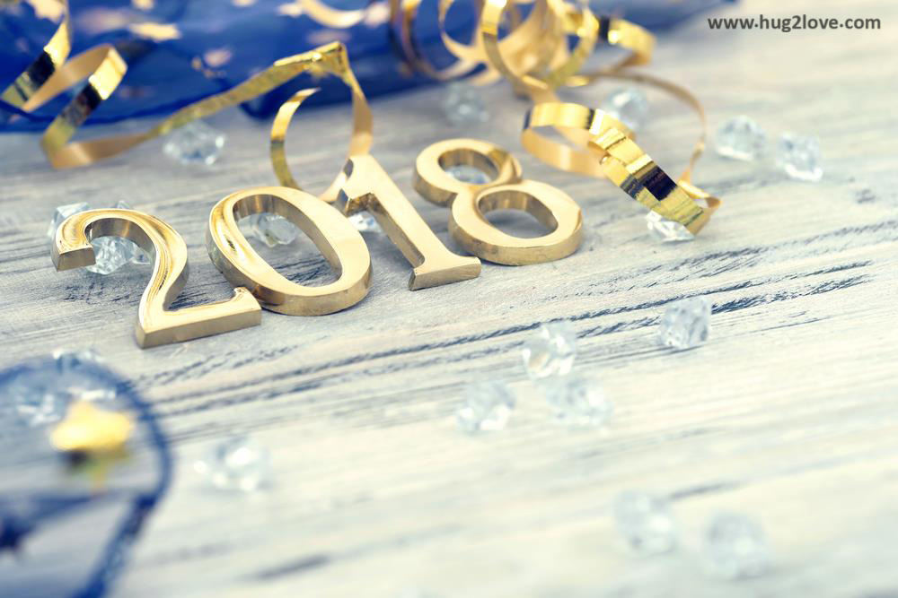 Gold 2018 New Year HD Wallpaper Image