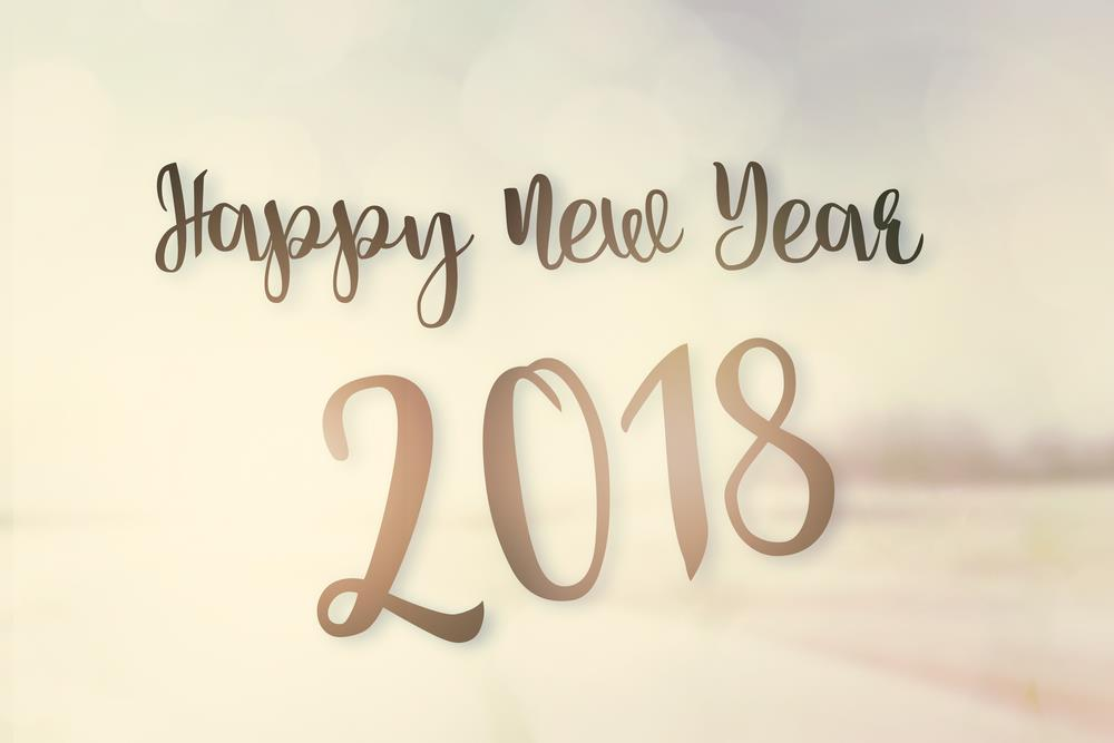 Golden New Year 2018 Wallpaper Image