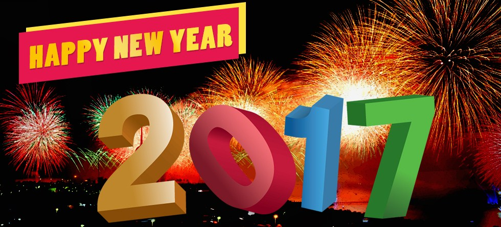 Happy New Year 2017 banner Cover 3d