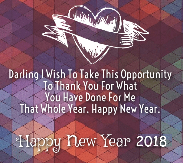 Happy New Year Romantic Saying Quotes 2018 ...