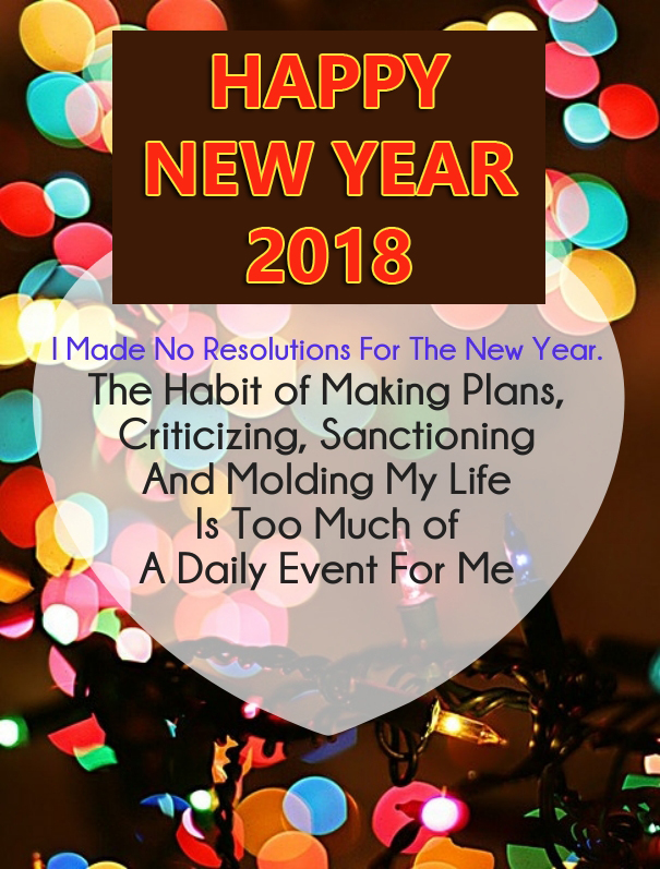 Happy New Year Resolution Quotes 2018