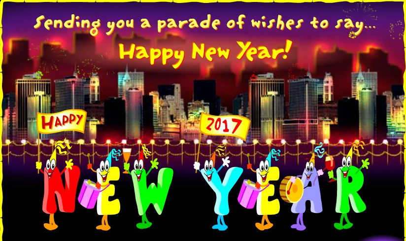 Unique happy new year greeting ecards 2018 to send online and share happy new year 2017 greeting cards images m4hsunfo