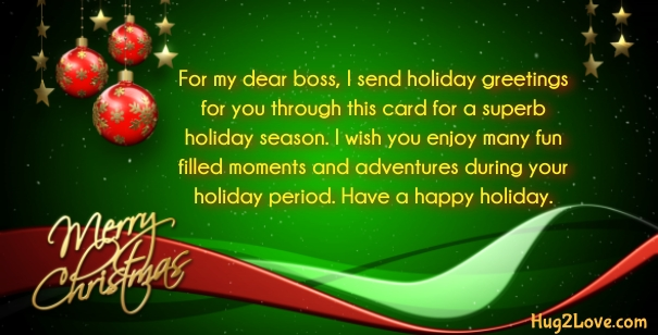 50 christmas wishes for boss 2017 respectful boss quotes xmas merry christmas card for boss m4hsunfo