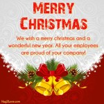 Merry christmas message for boss