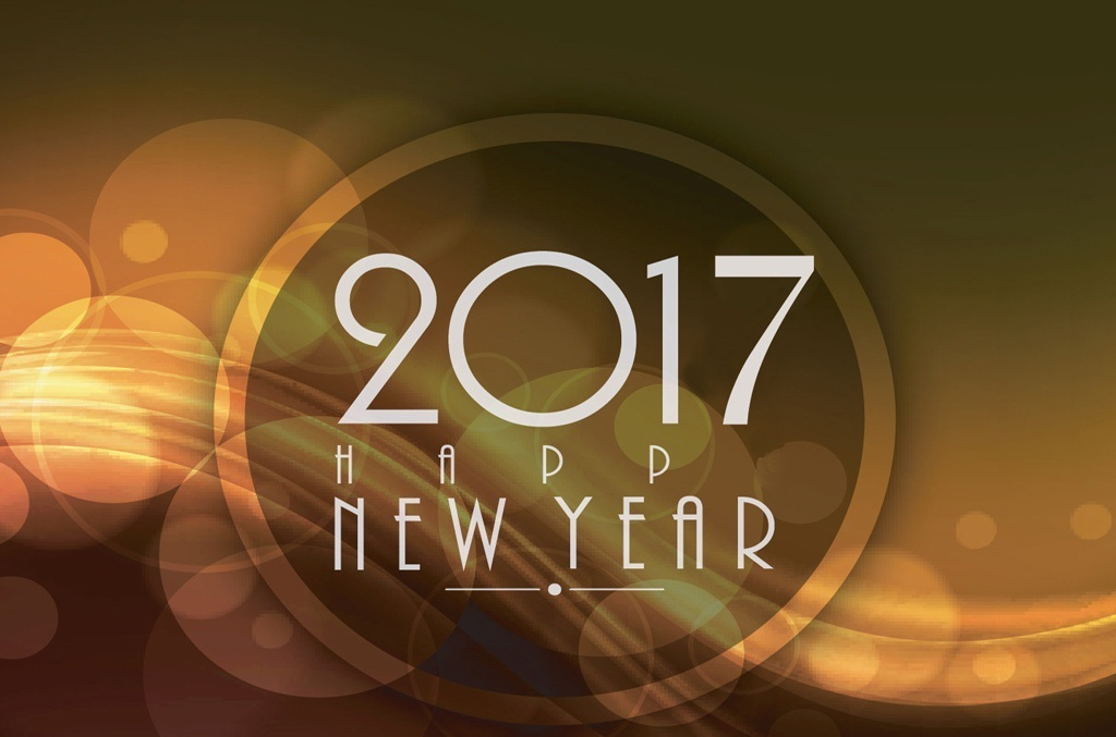 New Year 2017 3D Wallpaper Image free