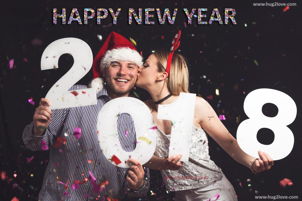 New Year 2018 Wallpaper For Couple Love Kiss