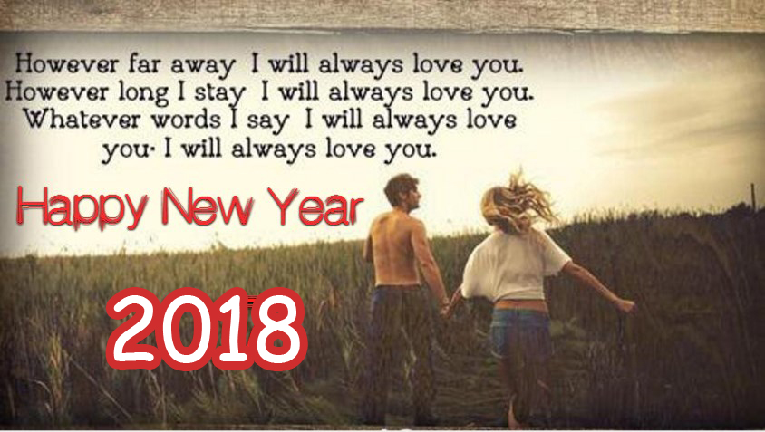 Exceptional New Year I Love You Romantic Wishes Greeting Quotes 2018