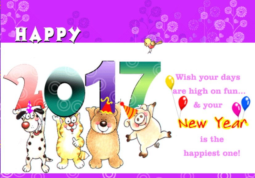 Unique happy new year greeting ecards 2019 to send online and share new year greeting cards 2017 funny kids m4hsunfo