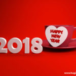 Romantic 2018 Happy New Year Wallpaper HD Red