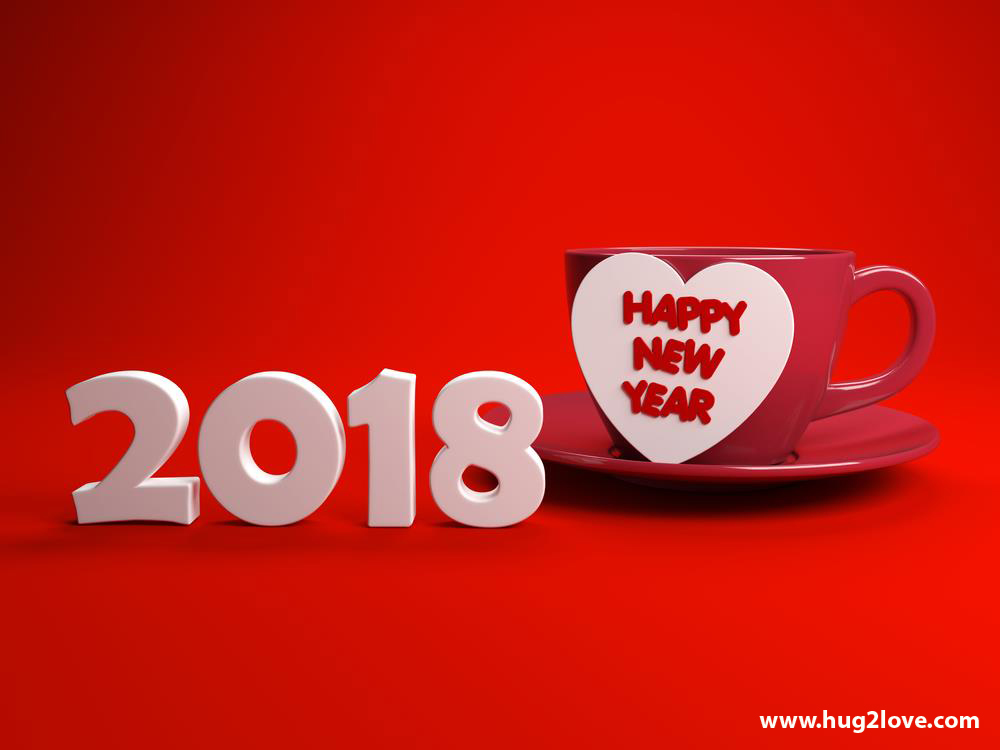 Romantic  Happy New Year Wallpaper Hd Red