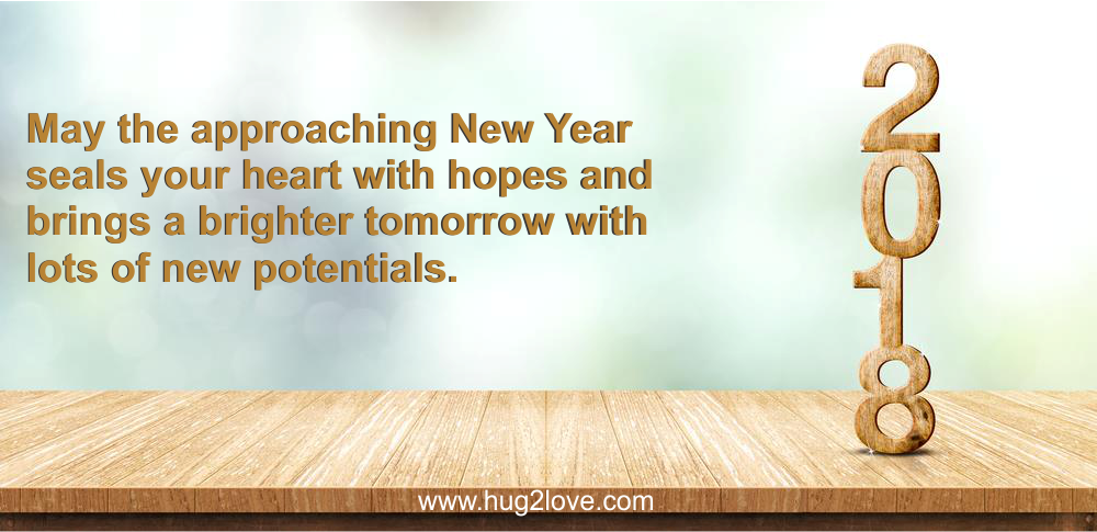 Short New Year 2018 Wishes Under 140 Words Character English