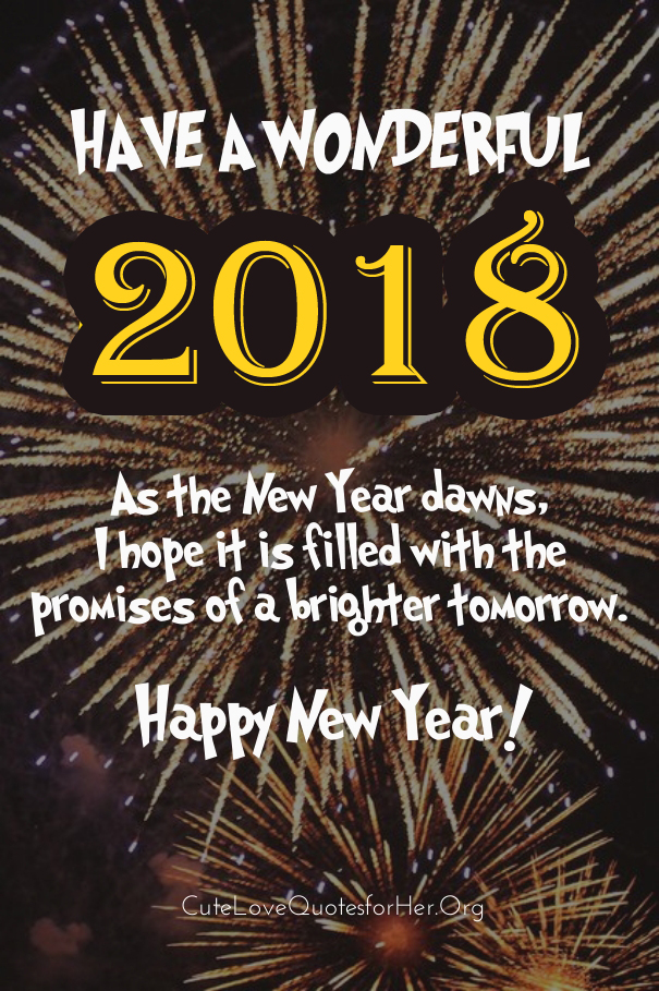 Delightful Wonderful New Year 2018 Quotes To Wish Family Friends
