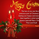 Xmas Wishes quotes mother father card
