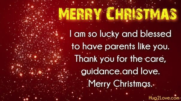 Christmas Wishes To Mom And Dad