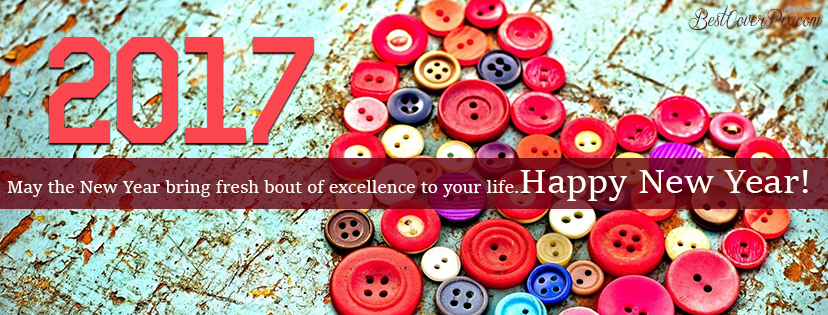 colorful New Year FB cover pictures 2017