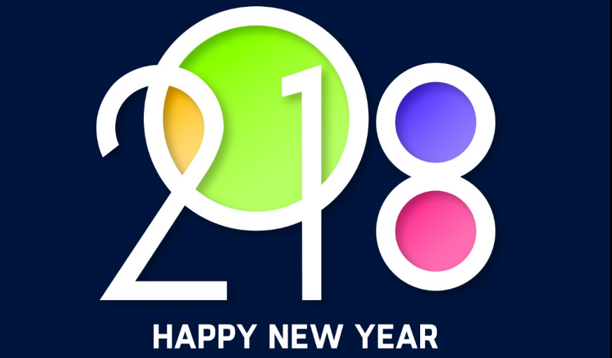 Colorful New Year 2018 Cover Banner