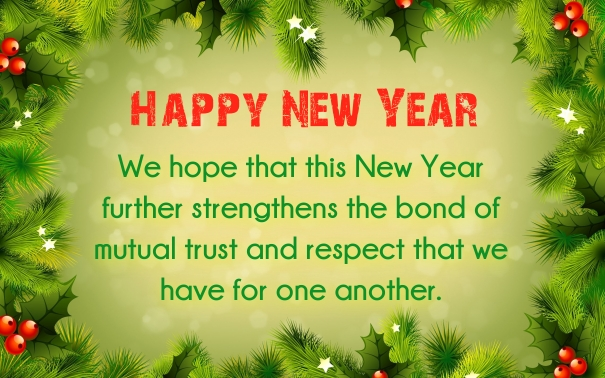 happy new year formal messages clients customers buisness 2017