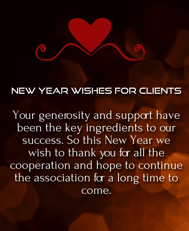 Happy new year 2018 wishes for clients and customers happy new happy new year wishes for customer 2016 m4hsunfo