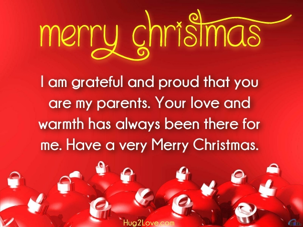 Amazing Merry Christmas Mom And Dad Quotes