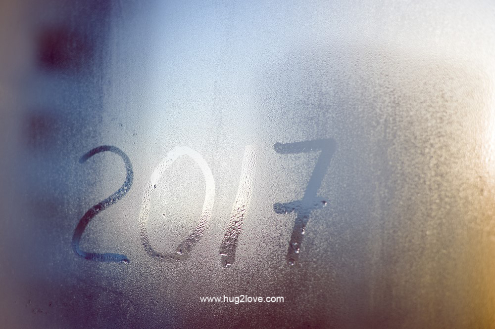 new year background vector 2017
