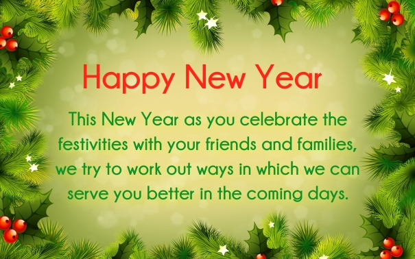 new year 2017 greetings for customers