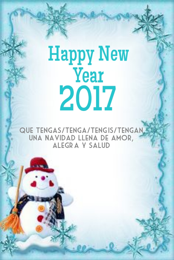New Year Greetings Spanish 2017
