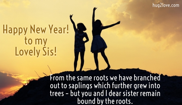 50 happy new year 2018 quotes for sister wishes for sister new year messages for sister m4hsunfo