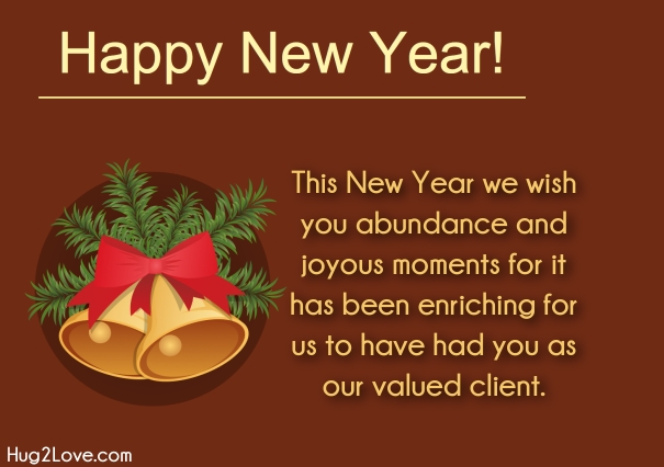 new year wishes for business client