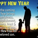 New Year 2017 Greeting Messages for Son