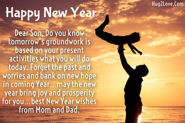 new year wishes for son from dad