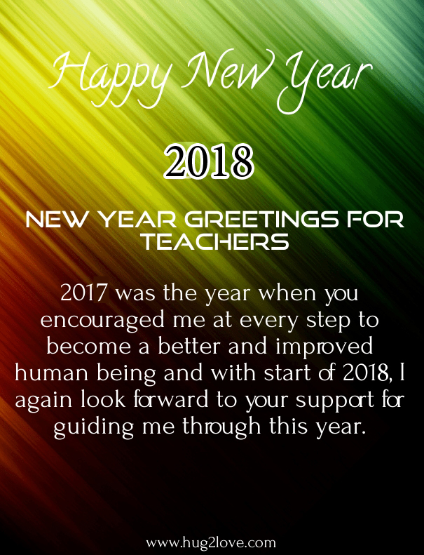 25 Respected New Year 2018 Wishes Greetings for Teachers ...