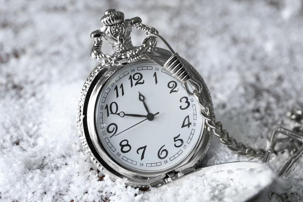 New Years Countdown Clock Winter Snow