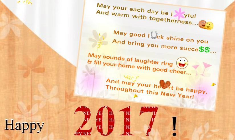 new years cards 2017
