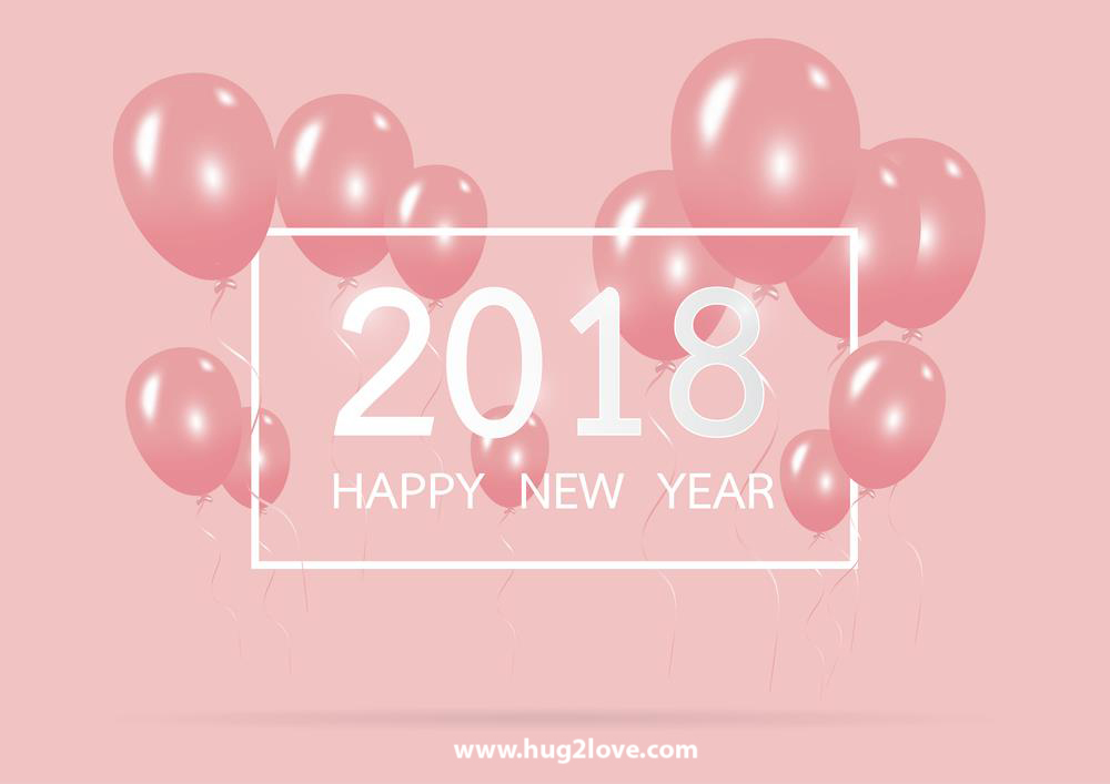 Pink 2018 Happy New Year Hd Wallpaper Image To Greeting Friends