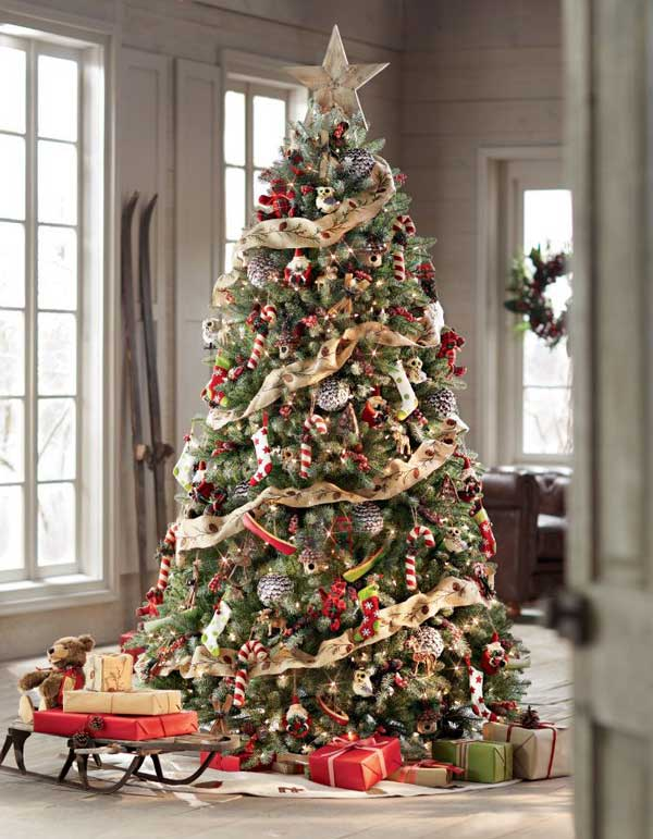 white Christmas tree decorating ideas 2017