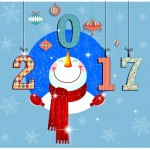 Happy New Year 2017 Cartoon Pictures for Kids