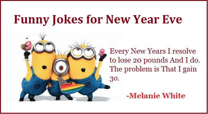 Charming Funny Jokes For New Years Eve Resolution