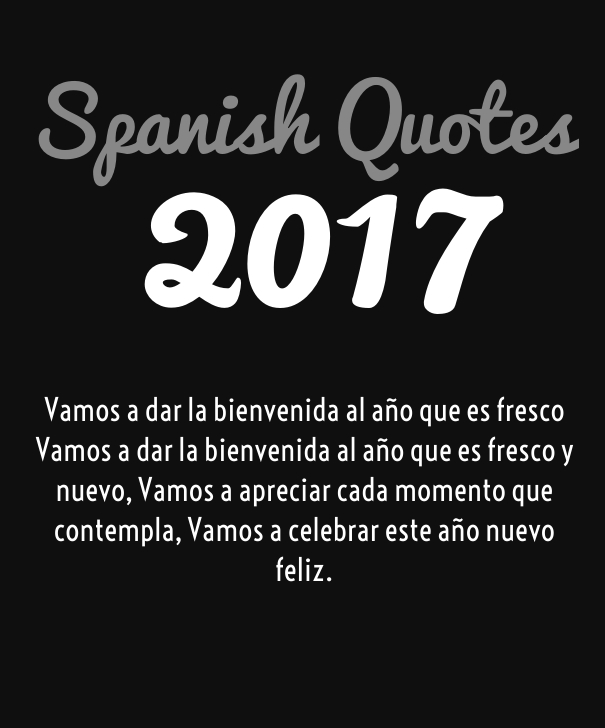 Greetings in Spanish 2017