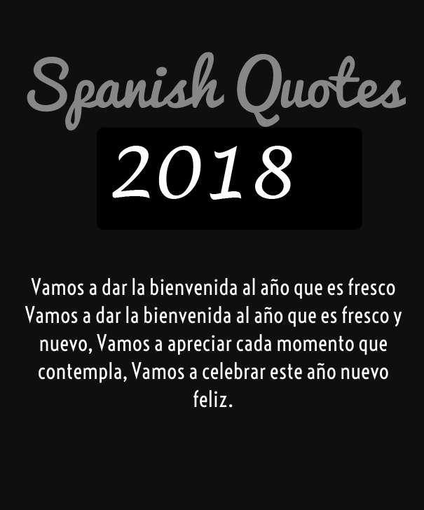 Greetings In Spanish 2018